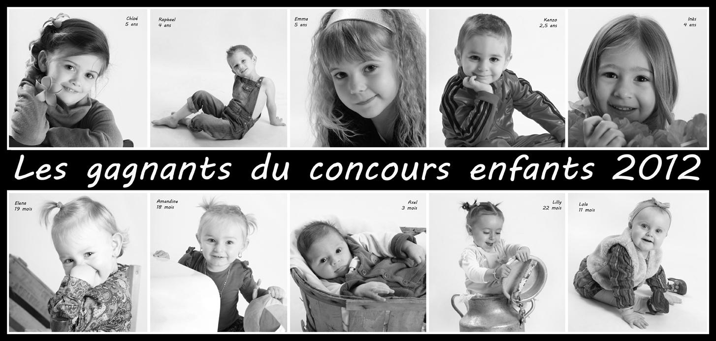Les gagnants du concours enfants 2012
