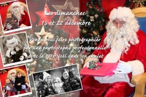 Amandine vous photographie avec le Père Noël